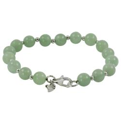 Sterling Silver 8-mm Jade Bead Bracelet