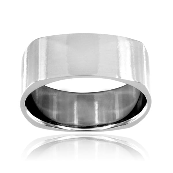 Stainless Steel High Polish Squared Ring