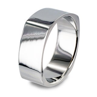 West Coast Jewelry Stainless Steel High Polish Squared Ring