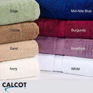 Calcot 600 GSM Supima Cotton Zero Twist Bath Towels (Set of 4)