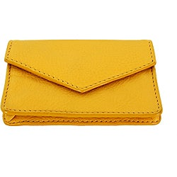 Yellow Leather Multi-purpose Credit Card Holder