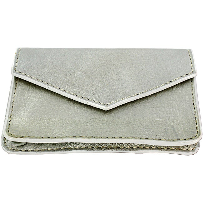 Silver Leather Multi-purpose Credit Card Holder at Sears.com