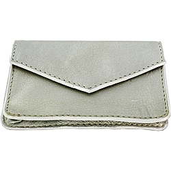 Silver Leather Multi-purpose Credit Card Holder