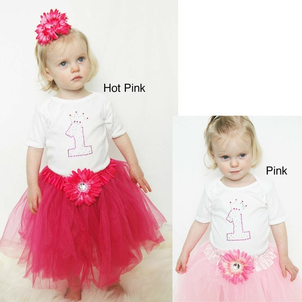 Baby Girl's First Birthday Princess Tutu Set