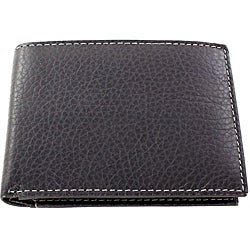 Yaali New York Grey Leather Bi-fold Wallet