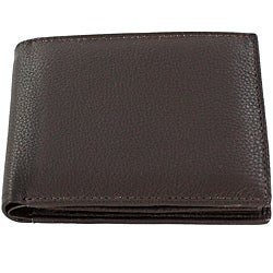 Fiza Brown Leather Bi-fold Wallet