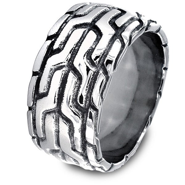Stainless Steel Men's Pattern Ring