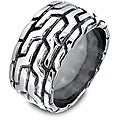 West Coast Jewelry Stainless Steel Men's Aztec Pattern Ring
