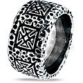 West Coast Jewelry Stainless Steel Men's Textured Iron Cross Ring