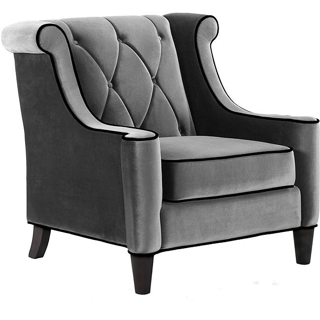 Modern Grey Velvet Chair