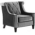 Modern Grey Velvet Chair