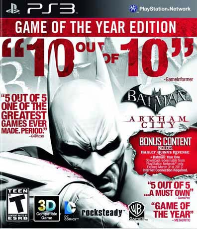 PS3 - Batman: Arkham City Game of the Year