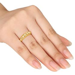 M by Miadora 18k Gold over Silver 1/4ct TDW Diamond Ring (H-I, I2-I3)
