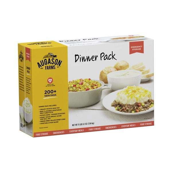 Augason Farms Dinner Pack - Six Gallon Cans of Emergency Food