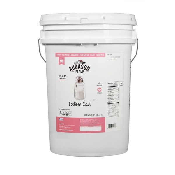 Augason Farms 6-gallon Iodized Salt Pail