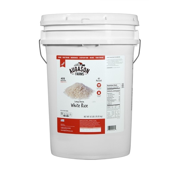 Augason Farms Long Grain White Rice Pail