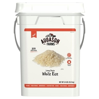Augason Farms Long Grain White Rice 6-gallon Pail