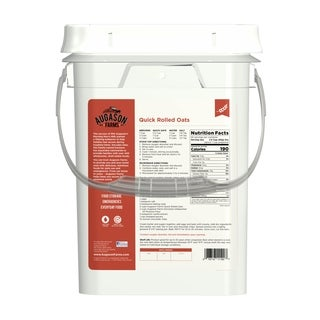 Augason Farms Quick Rolled Oats 6-gallon Pail