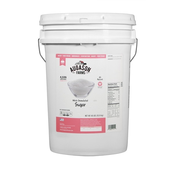 Augason Farms Granulated White Sugar Pail