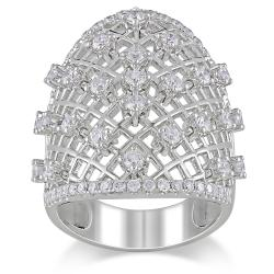 Miadora 14k White Gold 1 3/8ct TDW Diamond  Ring (G-H, SI1-SI2)