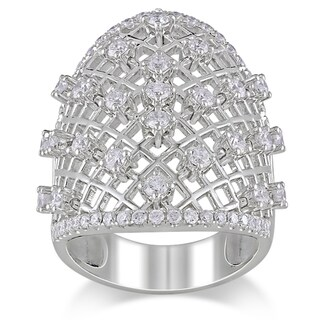 Miadora Signature Collection 14k White Gold 1 3/8ct TDW Diamond  Ring (G-H, SI1-SI2)