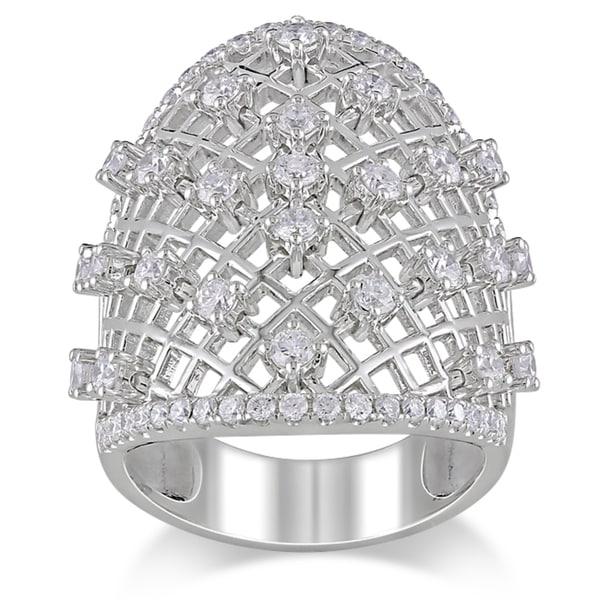 Miadora Signature Collection 14k White Gold 1 3/8ct TDW Diamond Ring (G-H, SI1-SI2)