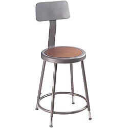 NPS Adjustable-height Stool with Backrest and Steel Gauge Tubing
