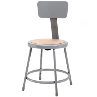 NPS Round Hardboard Seat Stool with Backrest