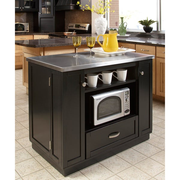 Versatile Stainless Steel Top Island
