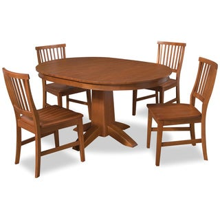 Arts & Crafts Cottage Oak 5-piece Dining Set