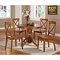 Cottage Oak 5-piece Dining Furniture Set