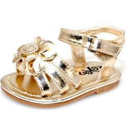 Baby Girl Gold Flower Fashion Crib Sandals