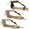 Bucco Women's Tied-back Gladiator Sandals