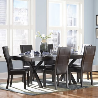 TRIBECCA HOME Dartford Espresso 7-piece Contoured Dining Set