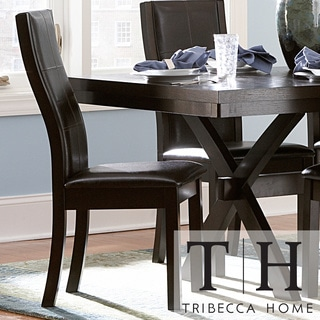 TRIBECCA HOME Dartford Espresso Contoured Dining Chair (Set of 2)