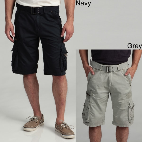 Request Jeans Men's Belted Cargo Shorts