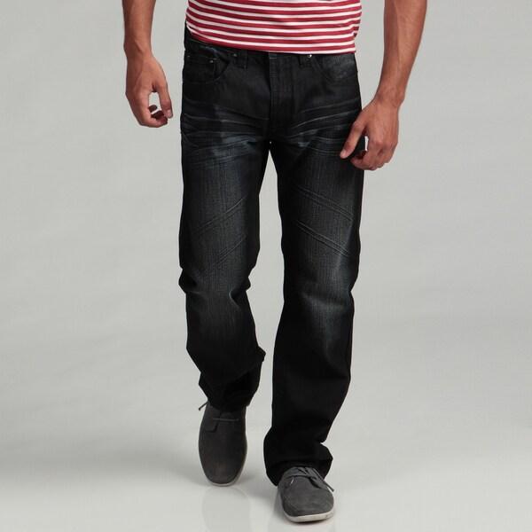 Request Men's Dark Wash Embellished Denim Jeans