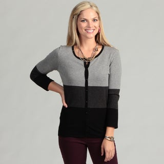 Cable & Gauge Women's Colorblock Cardigan Top