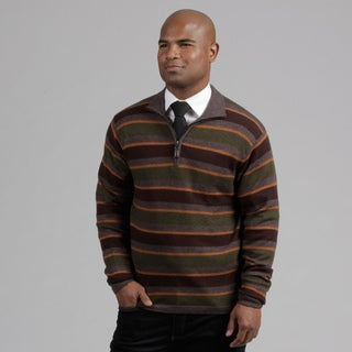 Weatherproof Men's Walnut Striped Wool/Cashmere Blend Sweater