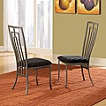 Alston Metal Cushioned Contemporary Dining Chair (Set of 2)