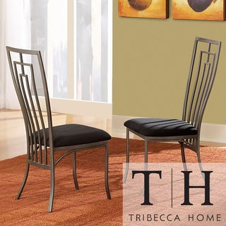 Tribecca Home Alston Metal Cushioned Contemporary Dining Chairs (Set of 2)