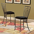 Alston Metal Cushioned 24-inch Counter Height Stool (Set of 2)