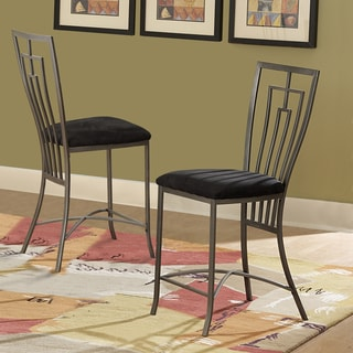 Tribecca Home Alston Metal Cushioned 24-inch Counter-height Stools (Set of 2)