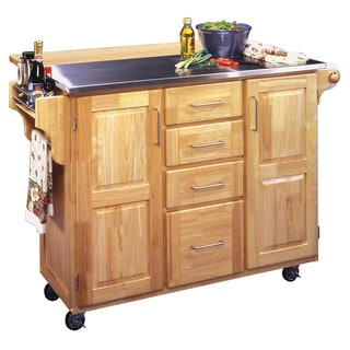 Natural Breakfast Bar Kitchen Cart