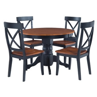 Black/ Cottage Oak 5-piece Dining Furniture Set