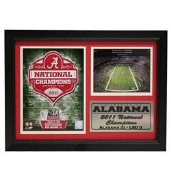 University of Alabama 2011 National Champion Photo Stat Frame 2