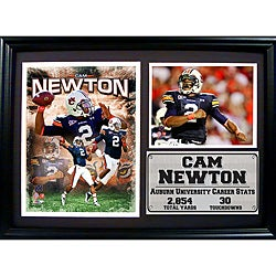 Auburn University Cam Newton Photo Stat Frame