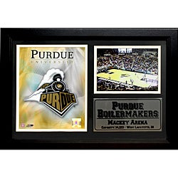 Purdue University Logo Photo Stat Frame