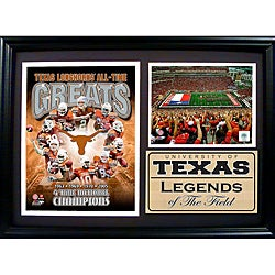 University of Texas Greats Photo Stat Frame