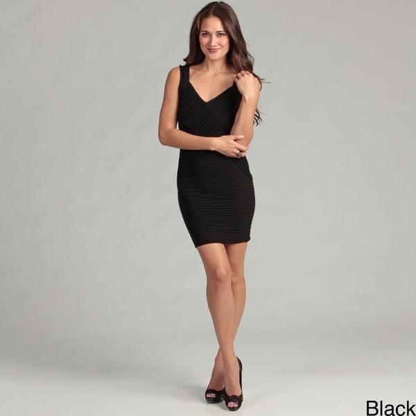 Calvin Klein Women's V-neck Pleated Dress